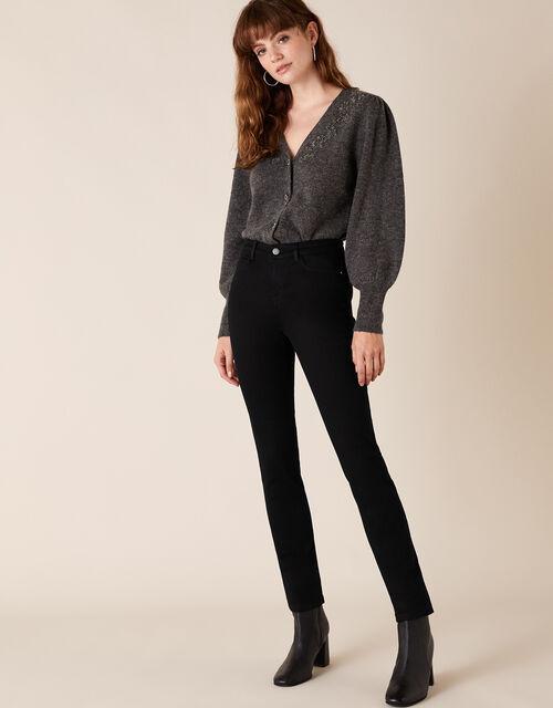 Azura Premium Short Jeans with Sustainable Fabric, Black (BLACK), large