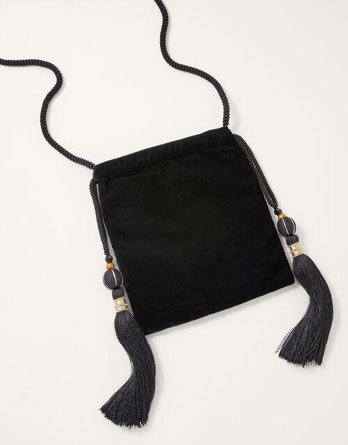 Peacock Embellished Drawstring Occasion Bag , , large