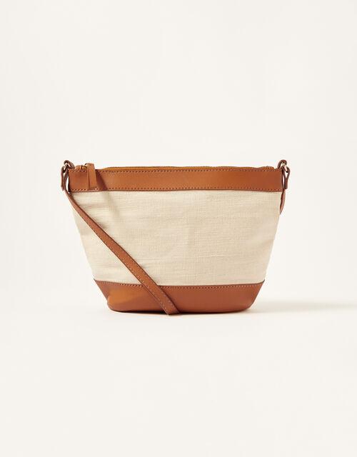 Textile Panel Cross-Body Bag, , large