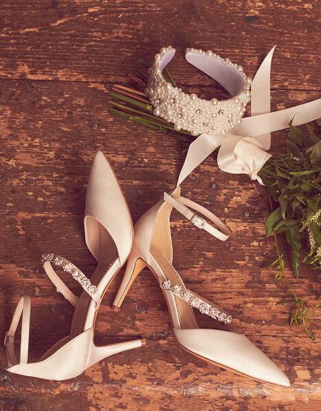 Vixie Embellished Bridal Court Shoes Ivory, Ivory (IVORY), large