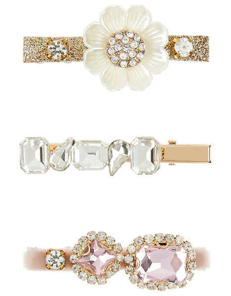 Pearly Flower Jewel Clip Set , , large