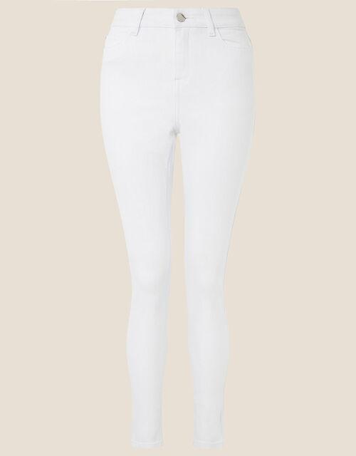 Iris Regular-Length Skinny Jeans, White (WHITE), large