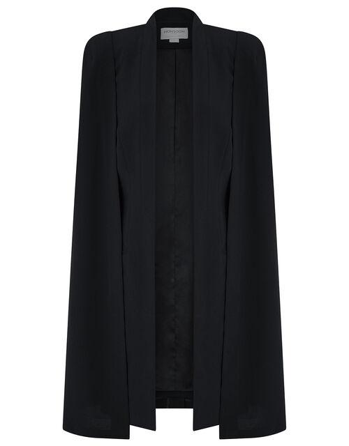 Katya Longline Cape Jacket, Black (BLACK), large