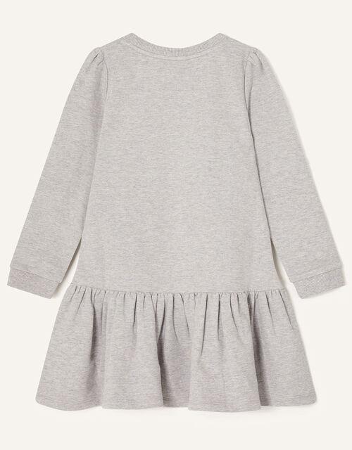 Sequin Unicorn Sweat Dress, Grey (GREY), large