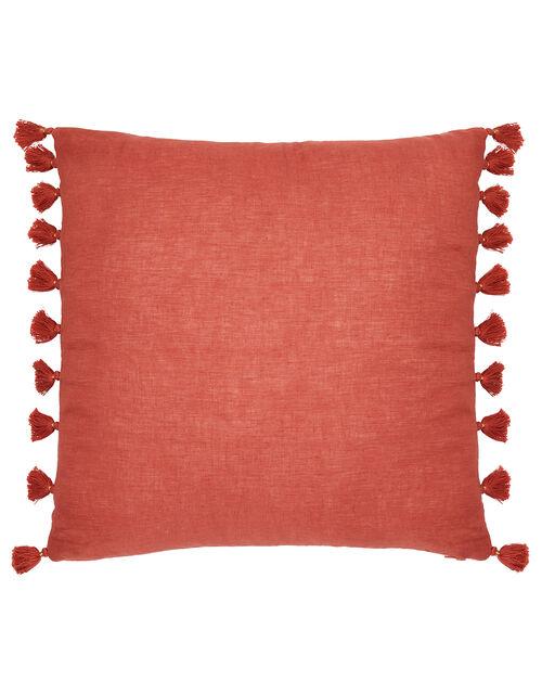 Tassel Cushion in Pure Linen, , large