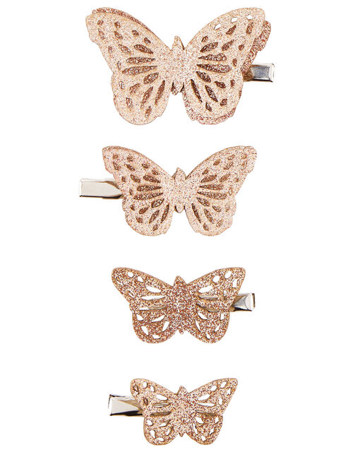 Glitter Butterfly Hair Clip Set, , large