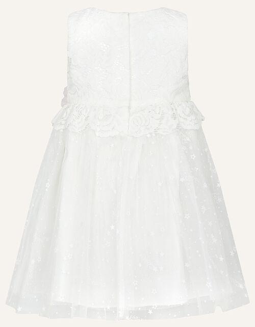 Baby Nieve Lace Bridesmaid Dress, Ivory (IVORY), large