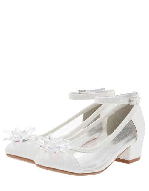 Sparkle Crystal Princess Shoes, Ivory (IVORY), large