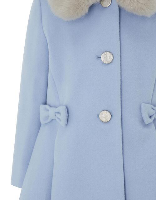 Blue Bow Coat, Blue (BLUE), large
