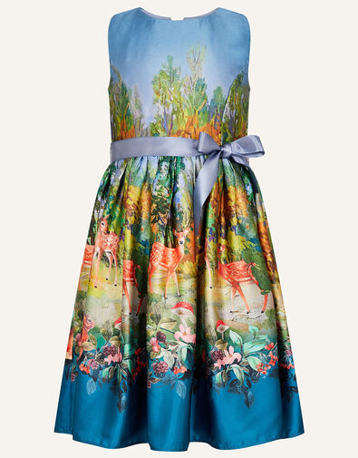 Woodland Satin Print Dress  Multi, Multi (MULTI), large