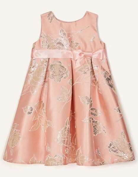 Baby Rose Jacquard Dress Pink, Pink (PINK), large