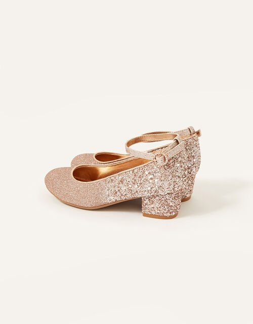 Ombre Glitter Heels, Gold (ROSE GOLD), large