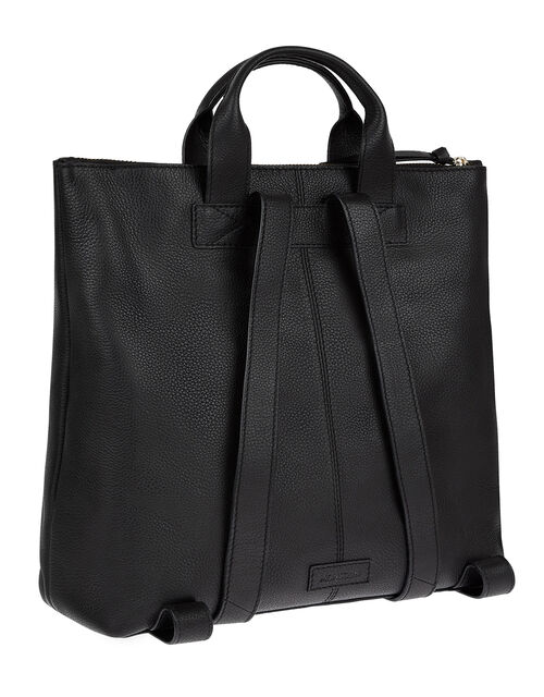 Leather and Suede Zip-Top Bag, , large