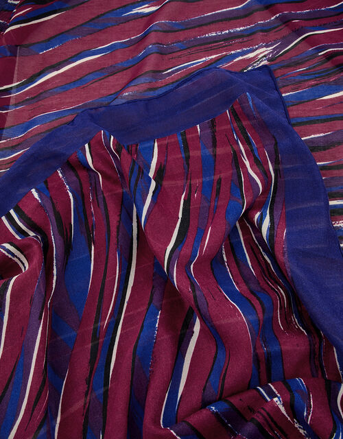 Lexi Zebra Print Scarf in Recycled Polyester, , large