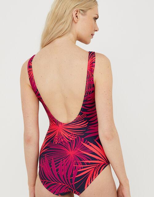 Akela Palm Print Swimsuit, Blue (NAVY), large