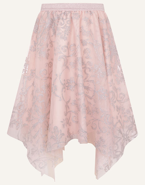 Princessa Hanky Hem Skirt  Pink, Pink (DUSKY PINK), large