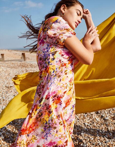 Helen Dealtry Krishana Floral Wrap Dress Pink, Pink (BLUSH), large