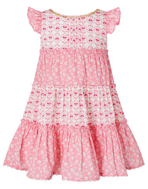 Baby Elsa Floral Dress in Organic Cotton, Pink (PINK), large