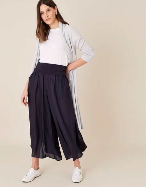 Split Side Jersey Trousers Blue, Blue (NAVY), large
