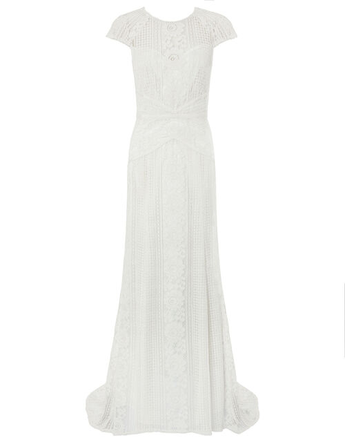 Meghan Geo Lace Maxi Wedding Dress, Ivory (IVORY), large
