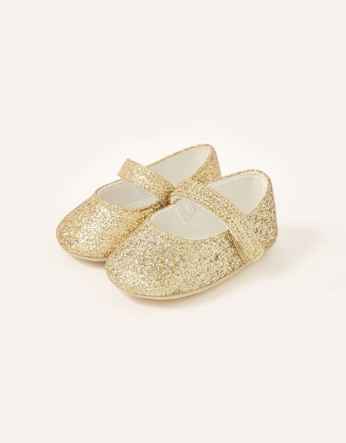 Glitter Bootie Shoes, Gold (GOLD), large