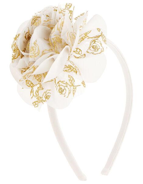 Glitter Flower Headband, , large