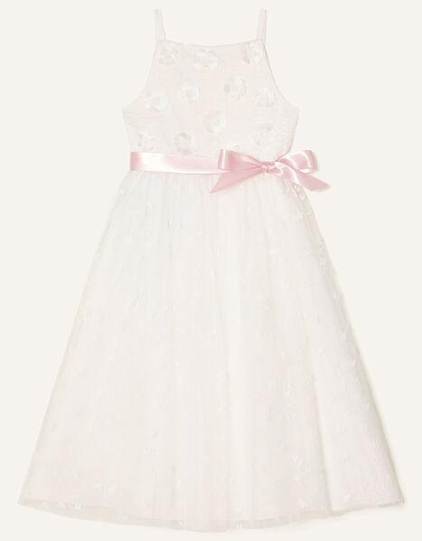 3D Flower Lace Maxi Dress Ivory, Ivory (IVORY), large