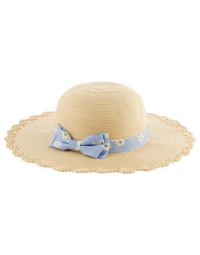 Ella Daisy Floppy Hat  Natural, Natural (NATURAL), large
