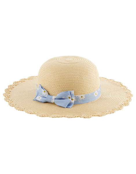 Ella Daisy Floppy Hat  Natural, Natural (NATURAL), large