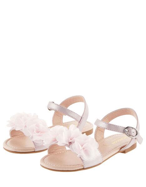 Corsage Shimmer Sandals Pink, Pink (PINK), large