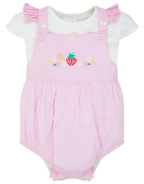 Newborn Baby Maya Strawberry Romper Set, Pink (PINK), large