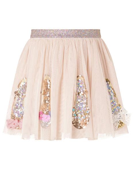Sparkle Shoe Disco Skirt Nude, Nude (NUDE), large