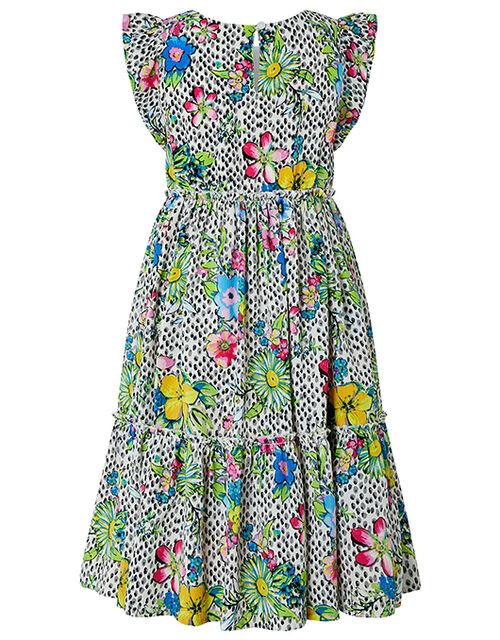 Azalea Floral Spot Midi Dress, Multi (MULTI), large