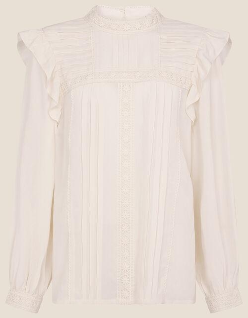 Victoriana Long Sleeve Blouse , Cream (CREAM), large