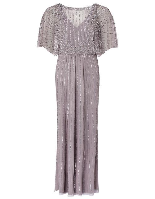 Tatiana Embellished Maxi Dress, Grey (GREY), large