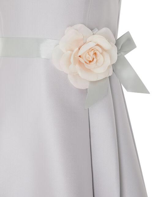 Lucinda Twill Occasion Dress, Grey (GREY), large