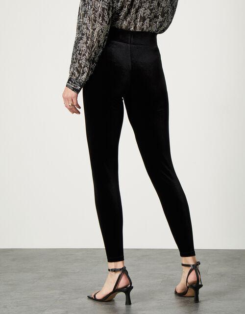 Velvet Leggings, Black (BLACK), large