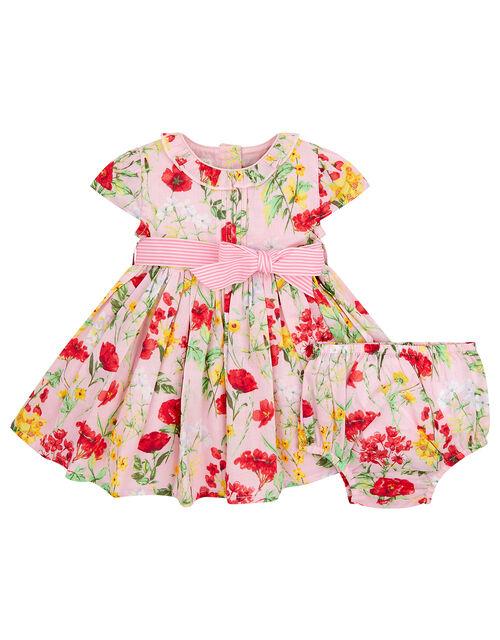 Newborn Baby Poppy Dress, Pink (PINK), large
