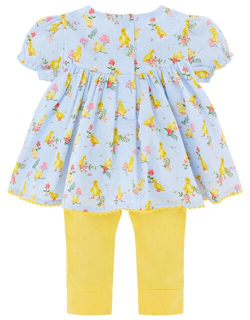 Newborn Duckie Top and Legging Set, Blue (AQUA), large