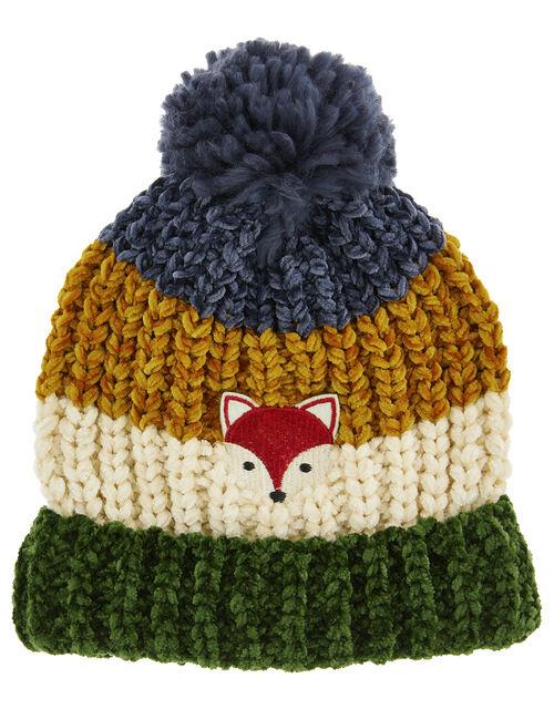 Jake Stripe Chenille Pom-Pom Hat, Multi (MULTI), large