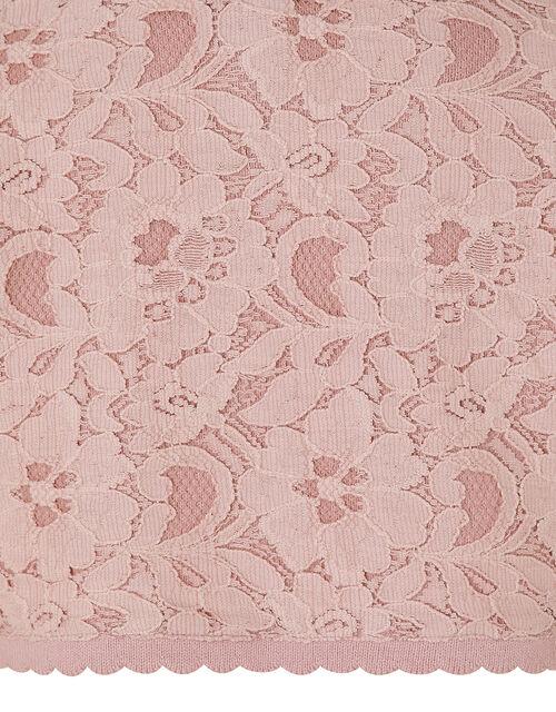 Eliona Cropped Lace Cardigan, Pink (DUSKY PINK), large