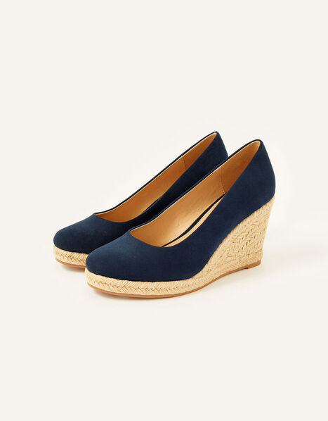 Elena Espadrille Wedges Blue, Blue (NAVY), large