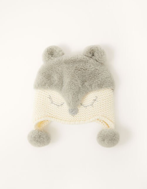 Baby Maggie Sparkle Deer Hat , Ivory (IVORY), large