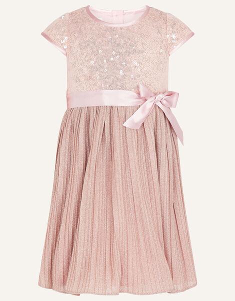 Baby Sequin Dress Pink, Pink (DUSKY PINK), large