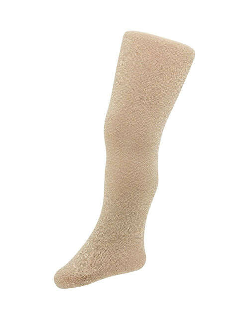 Baby Sparkle Nylon Tights, Gold (GOLD), large