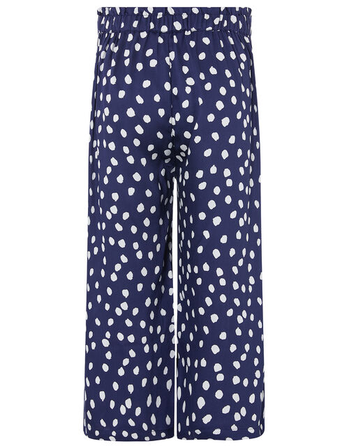 Serenity T-shirt and Spotty Culotte Set, Blue (NAVY), large