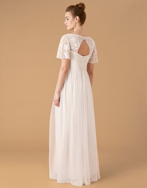 Shelly Floral Embellished Bridal Dress, Ivory (IVORY), large