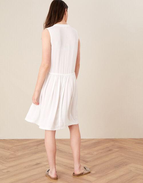 Mirrorwork Dress in LENZING™ ECOVERO™, White (WHITE), large