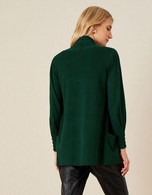 Sandy Shawl Collar Pocket Cardigan, Green (DARK GREEN), large