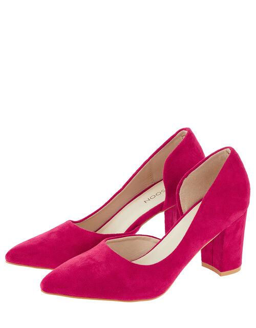 Matilda Block Heel Court Shoes, Pink (FUCHSIA), large